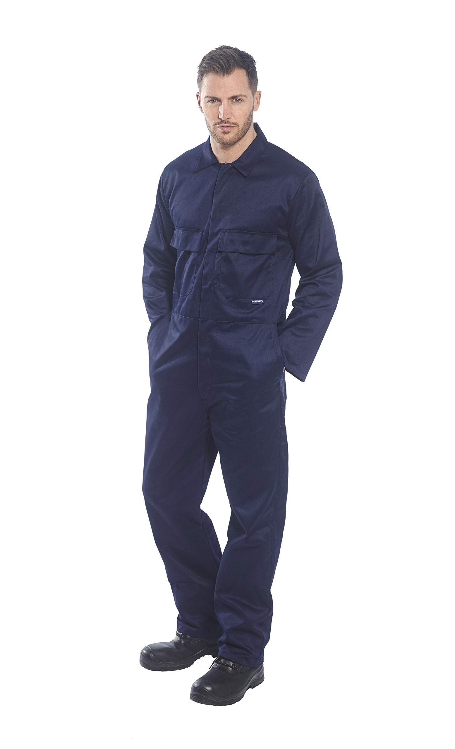 Portwest S999NARXXXL Euro Work Boilersuit, Fabric, 3X-Large, Navy by Portwest (Image #2)