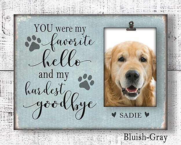 Amazon.com: Personalized pet memorial picture frame, in loving ...