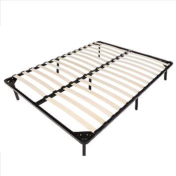 homdox bed frames wooden slats support mattress foundation platform bed frame box