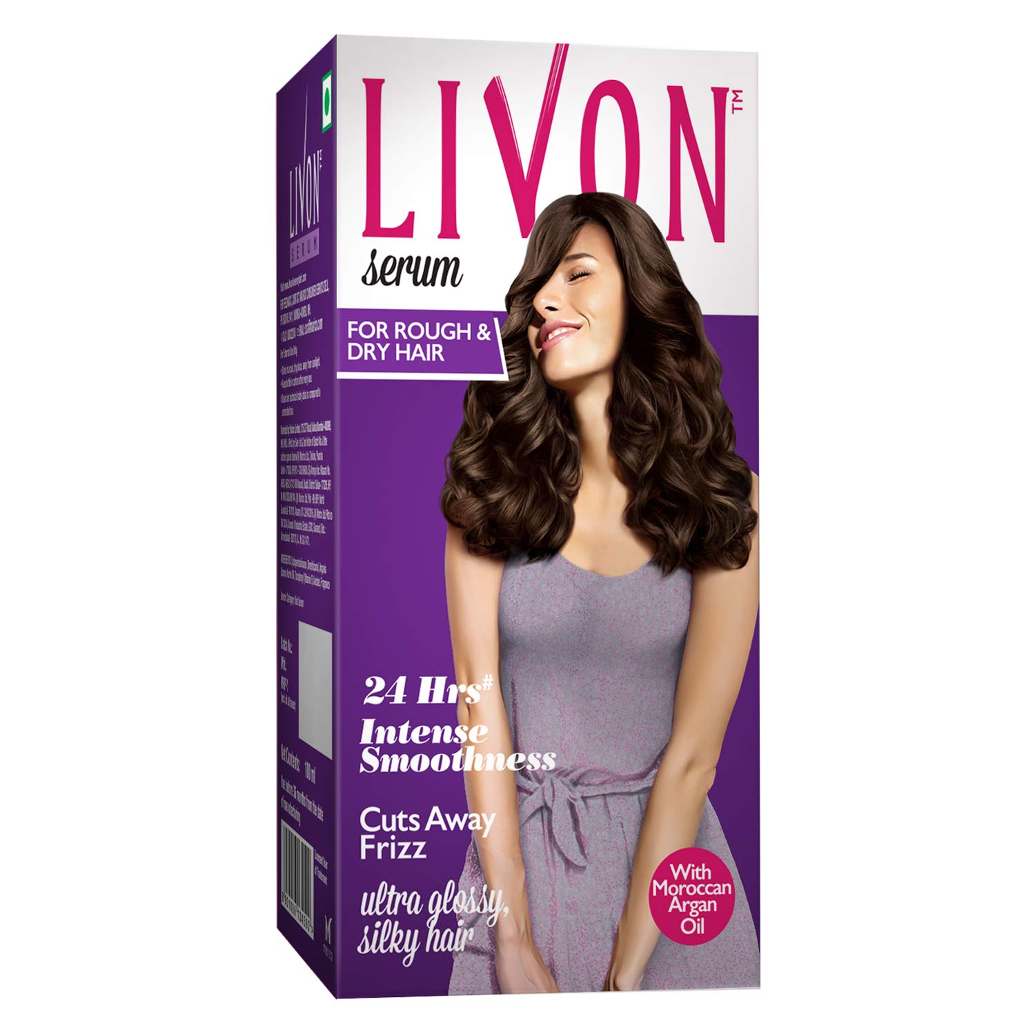 Livon Serum for Women for Dry & Rough Hair For 24 Hour Frizz-free Smoothness, With Argan Oil & Vitamin E, 50 ml