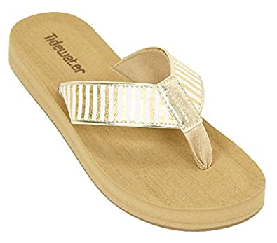 Tidewater Women's Onslow Sandals Gold / White 6