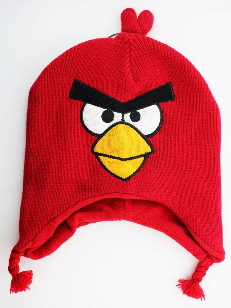 Angry Birds Little Boys' Knit Peruvian, Red, One Size