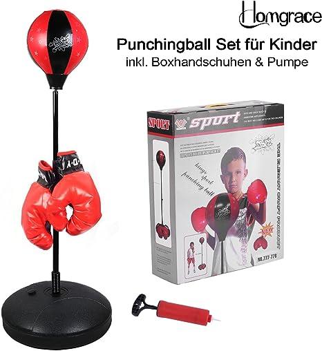 Pack de bola de boxeo Homgrace con guantes de boxeo para jóvenes, regulable en altura de 70 a 105 cm, el mejor regalo para niños: Amazon.es: Deportes y aire libre