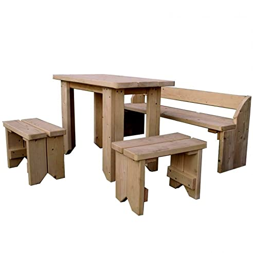 Gartenmöbel set mit bank  Amazon.de: Kinder Gartenmöbel-Set mit Tisch, Hocker und Bank