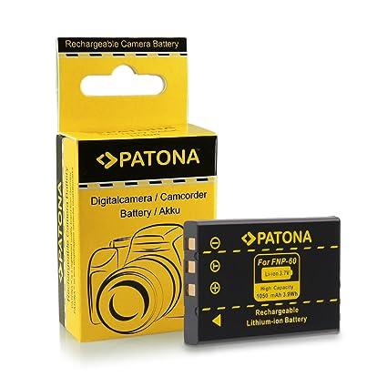 PATONA Batería compatible con Fujifilm NP-60, Casio NP-30, HP L1812A, R07, A1812A, Kodak Klic-5000 - 1050 mAh