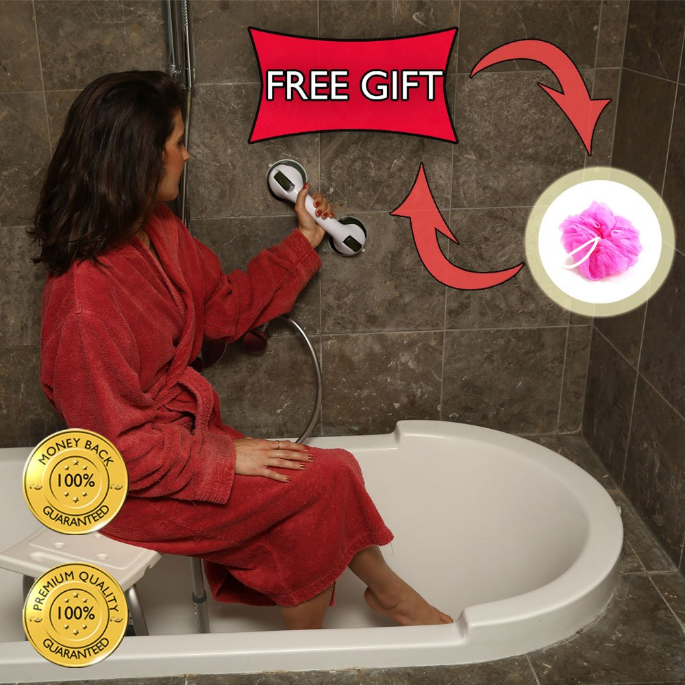 Amazon.com: Grab Bar by Dr. Maya - Bath Support with Free Shower ...