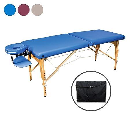 Zen Start-Up   Massage-Liege klappbar und höhenverstellbar   Mobiler Massage-Tisch   Kosmetik-Tisch aus Holz mit hochwertigem