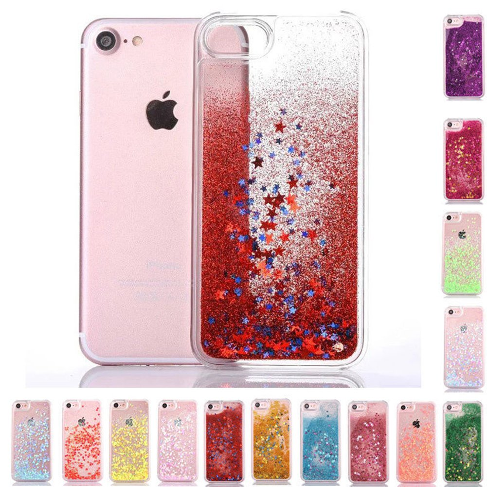 For Samsung Galaxy Note 3 Case, Mixneer Burst Love Sequins Mobile Phone Shell Small Fresh Glitter Liquid Sand Shell for Samsung Galaxy Note 3 - Golden Stars