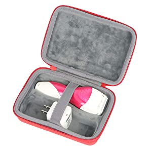 Khanka Hard Travel Case Replacement for Panasonic ES2207P Ladies Electric Shaver, 3-Blade Cordless Women's Electric Razor/Pop-Up Trimmer, Use Wet or Dry (red)