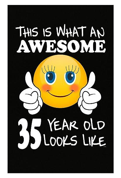 Emoji Birthday 35th Presents Woman 35 Year Old Gift
