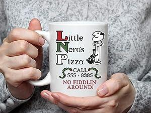 Little Nero'S Pizza Home Alone Movie Inspired Mug Funny Coffee Mug, Ceramic 11 Oz Travl Coffee Tea Mugs Cups