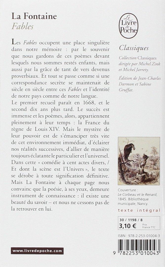 Fables Classiques Amazones Jean De La Fontaine Libros
