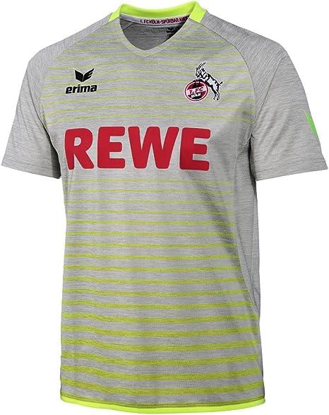 Erima Camiseta del FC Köln, tercera equipación, temporada 2017/2018, para hombre, gris/amarillo, XXXL: Amazon.es: Deportes y aire libre