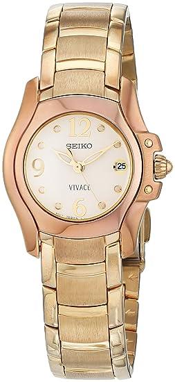Seiko Reloj Análogo clásico para Mujer de Cuarzo con Correa en Acero Inoxidable SXD684
