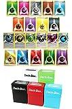 100 Pokemon Energy Card Bundle with Free Deck Box & Random Bonus - 90 Assorted Regular + 5 Foil Reverse Holo + 5 Special Energies