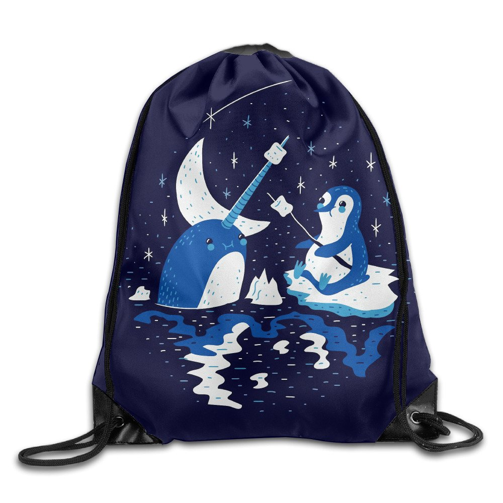 Narwhal Penguin Feed Training Gymsack Drawstring Backpack 85%OFF