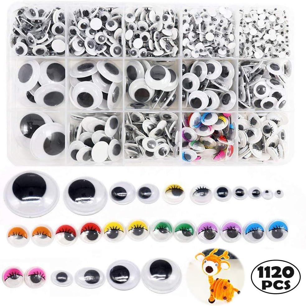 M/óviles Manualidades Ojo 1120 Piezas Adhesivos Ojos Pl/ástico para DIY Craft Scrapbooking Accesorios Teddy Bear Mu/ñeca Hacer Juguetes Ojos