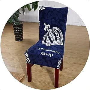 better-caress 1/2/4/6 ces European Printing Chair Covers Elastic Slipcovers for Weddings Banquet Hotel fundas para sillas de comedor,Cr 4,1pcs Chair Cover