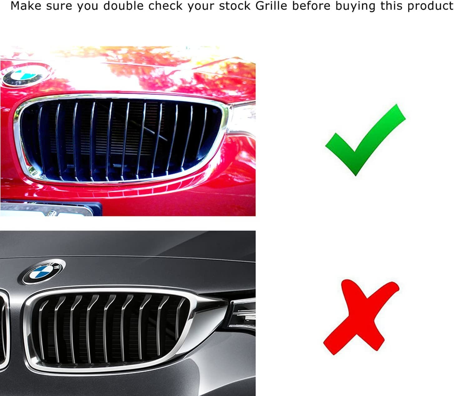 iJDMTOY Exact Fit //////M-Colored Grille Insert Trims For 2014-up BMW F32 4 Series 428i 435i 430i 440i etc w// 11-Bean Standard Kidney Grille