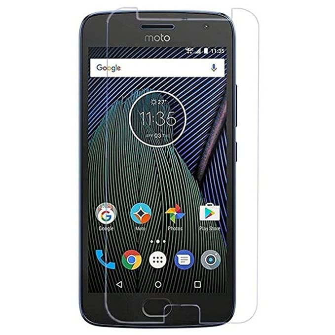 CareFone Knotyy 2.5D Curved Tempered Glass for Motorola Moto G5 Plus  Transparent  Screen guards