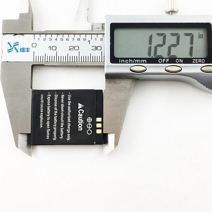 Reloj inteligente batería RYX-NX9 batería de litio recargable con capacidad 380MAH: Amazon.es: Electrónica