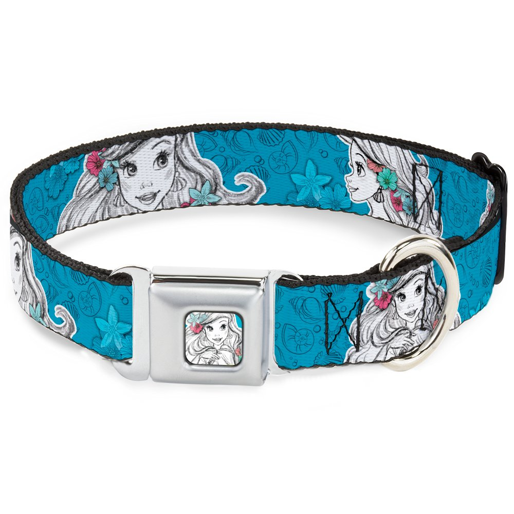 Buckle-Down DC-WDY183-L DYFR Ariel Sketch2 Pose Full color bluee Dog Collar, Large 15-26
