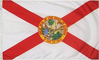 product image for Annin Flagmakers Model 140950 Florida Flag Nylon SolarGuard NYL-Glo, 2x3 ft, 100% Made in USA to Official State Design Specifications