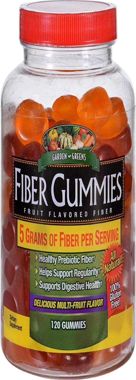 Garden Greens Fiber Gummies - 120 Ea