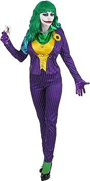 WIDMANN Disfraz de Joker chiflado para Mujer M: Amazon.es ...
