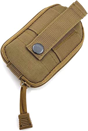 Hoanan Tactical Molle Roll-up Dump Pouch,Military Drawstring Large Outdoor Water Bottle Pouch Adjustable Belt Utility Fanny Hip Tool Pouch Bag
