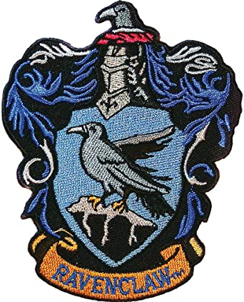 amazon com ata boy harry potter ravenclaw crest 3 full color embroidery iron on patch arts crafts sewing ata boy harry potter ravenclaw house crest officially licensed patch pin and more
