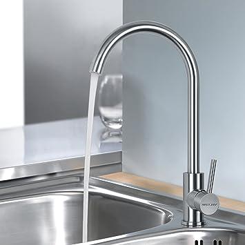 MSTJRY Küche Wasserhahn Küchenarmatur Edelstahl Mischbatterie Küche ...