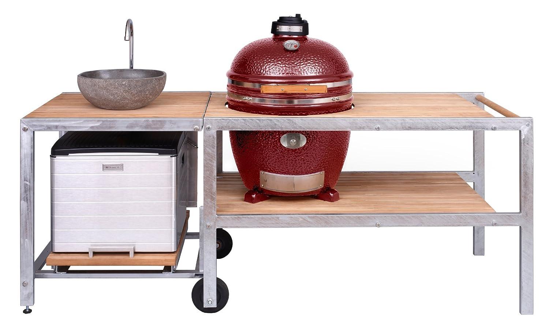 Outdoorküche Mit Spüle Kosten : Monolith outdoorküche rot mit keramikgrill classic tisch