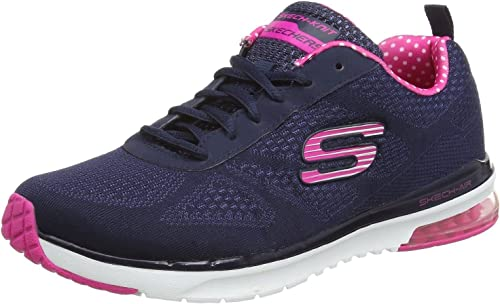 Skechers Air Infinity Navy Pink White Womens Trainers Shoes