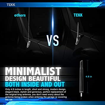 TEKK Short Antenna Compatible with Dodge Nitro 2007-2010 4.8 Inches Designed for Optimized FM//AM Reception