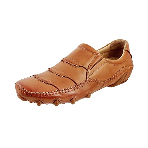 0bdbcbd6c75 Mochi Men s Tan Leather Loafers 7 UK Inida(41 EU) 14-9750-23-41  Buy ...