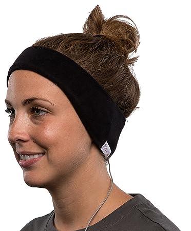 SleepPhones v.6 Classic Fleece Medium Headband Headphones - Black