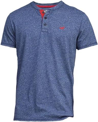 Hollister - Camiseta - Camiseta - Básico - Manga Corta - para Hombre Azul Marino X-Small: Amazon.es: Ropa y accesorios