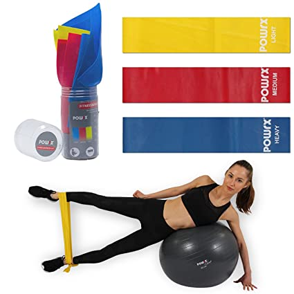 Fitnessb/änder Set mit Tragebeutel Fitness-Band Kraftraining-Widerstandsb/änder Widerstandsband Beine Gymnastik-Band Trainingsband f/ür Training auf Fitness-Matte Yoga-Matte Sport-Matte Gymnastikball
