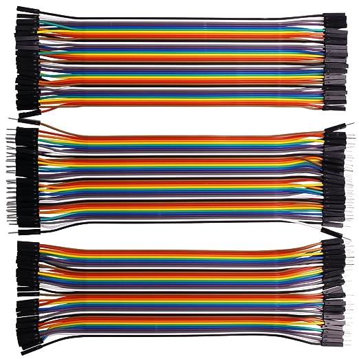 8 opinioni per Kuman 120pcs Multicolored 40pin Male to Female, 40pin maschio-maschio, 40pin