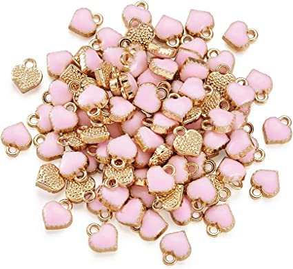 20 Heart Leaf Charms Assorted Pendants Valentines Day Jewelry Supplies Mixed Lot