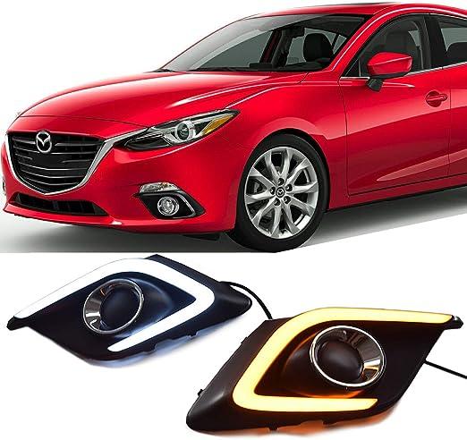 Amazon.com: Win Power Kit de luces antiniebla DRL impermeables para Mazda 3 Axela 2014 2015 2016 + Canbus sin errores: Automotive