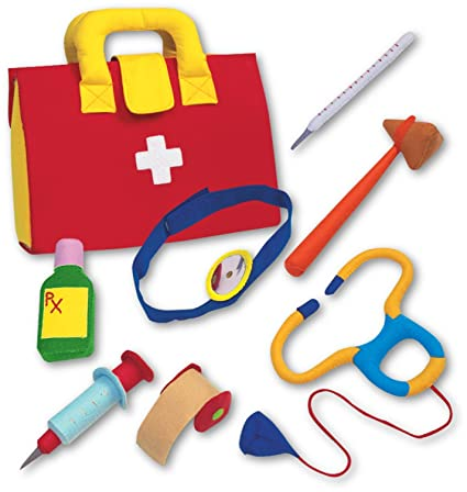 Amazon Com Play Doctor Kit Fabric Role Play Set Toys Games