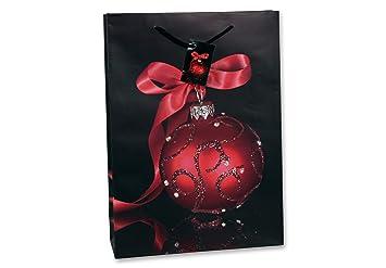 925e88c9fc7b6 Bambelaa 12x Große Weihnachtstüten Weihnachtsmotiv Design Schwarz Rot  Geschenktüten Weihnachten Präsent Papier Geschenktasche Tragetaschen ca25x8