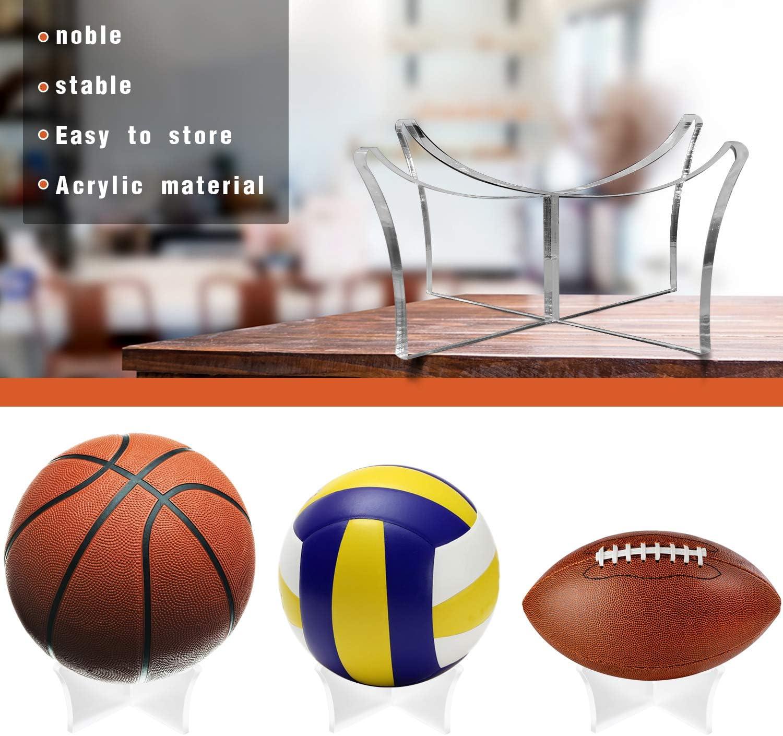 transparente Ball Halterung Acrylkugelbasis f/ür Fu/ßball-Volleyball-Basketballhalterung X-Typ-Kugelst/änder DEXIDUO 2 Paar ballst/änder