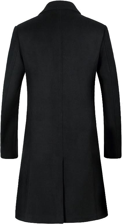 Flygo Mens Lightweight Stand Collar Warm Reversible Jacket Plus Size Thicken Parka