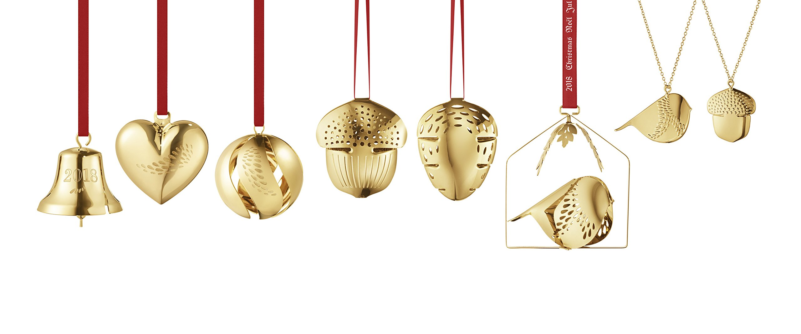 Georg Jensen 1 x Christmas Decoration, Plated Brass, Gold, One Size