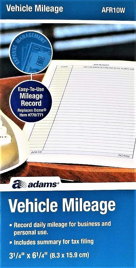 amazon com adams afr10w vehicle mileage log office products
