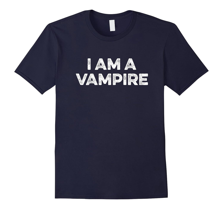 I Am A Vampire T-Shirt Retro Distressed Grunge Design-Vaci