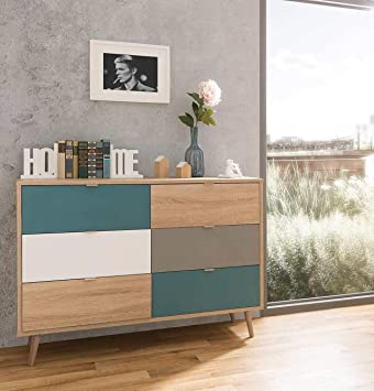 Lifestyle4living Kommode In Sonoma Eiche Nachbildung Sideboard Mit